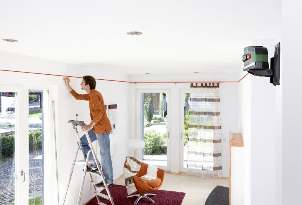 Перед началом работы по монтажу подвесного потолка необходимо сделать разметку поверхности для установки профиля