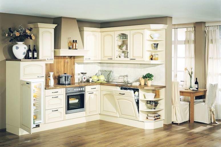 Кухня во французском стиле отличается мягкими и нежными оттенками