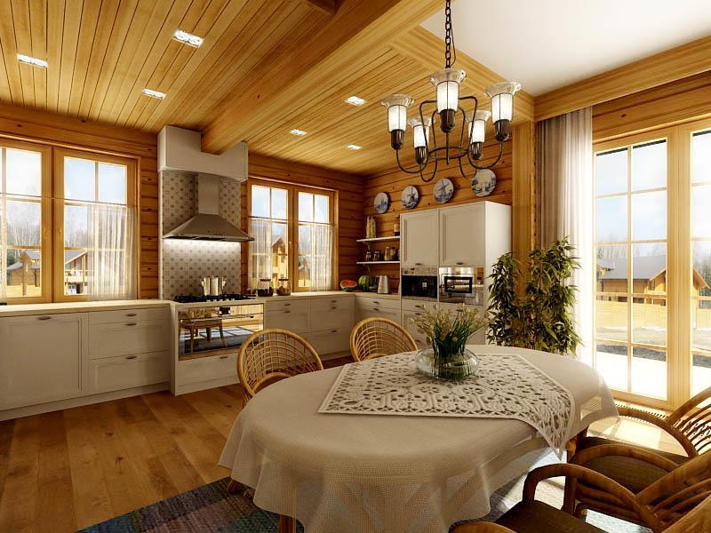 Наиболее распространенным вариантом проектировки кухни-столовой является совмещенный вариант