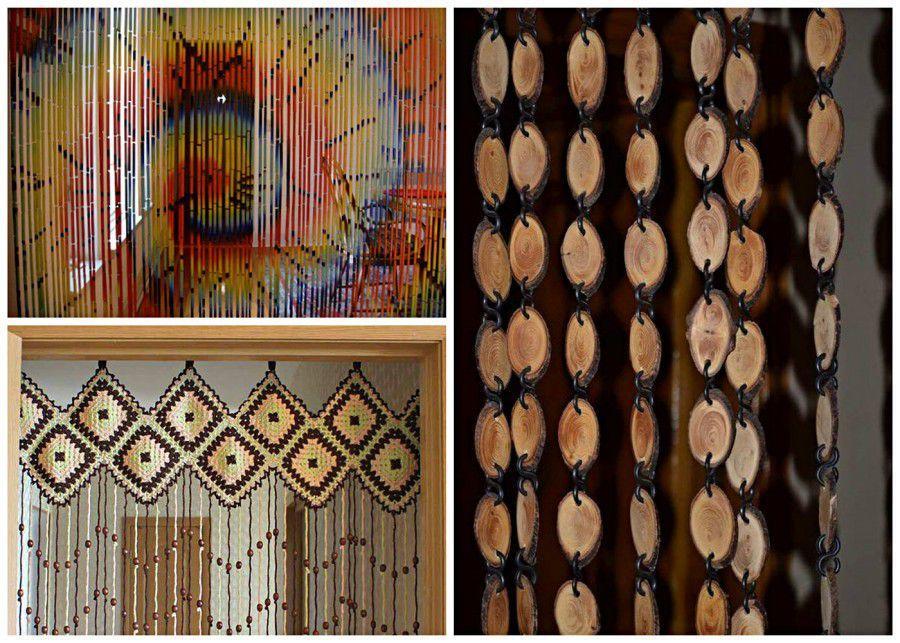 С помощью таких оригинальных изделий можно украсить дверные проемы