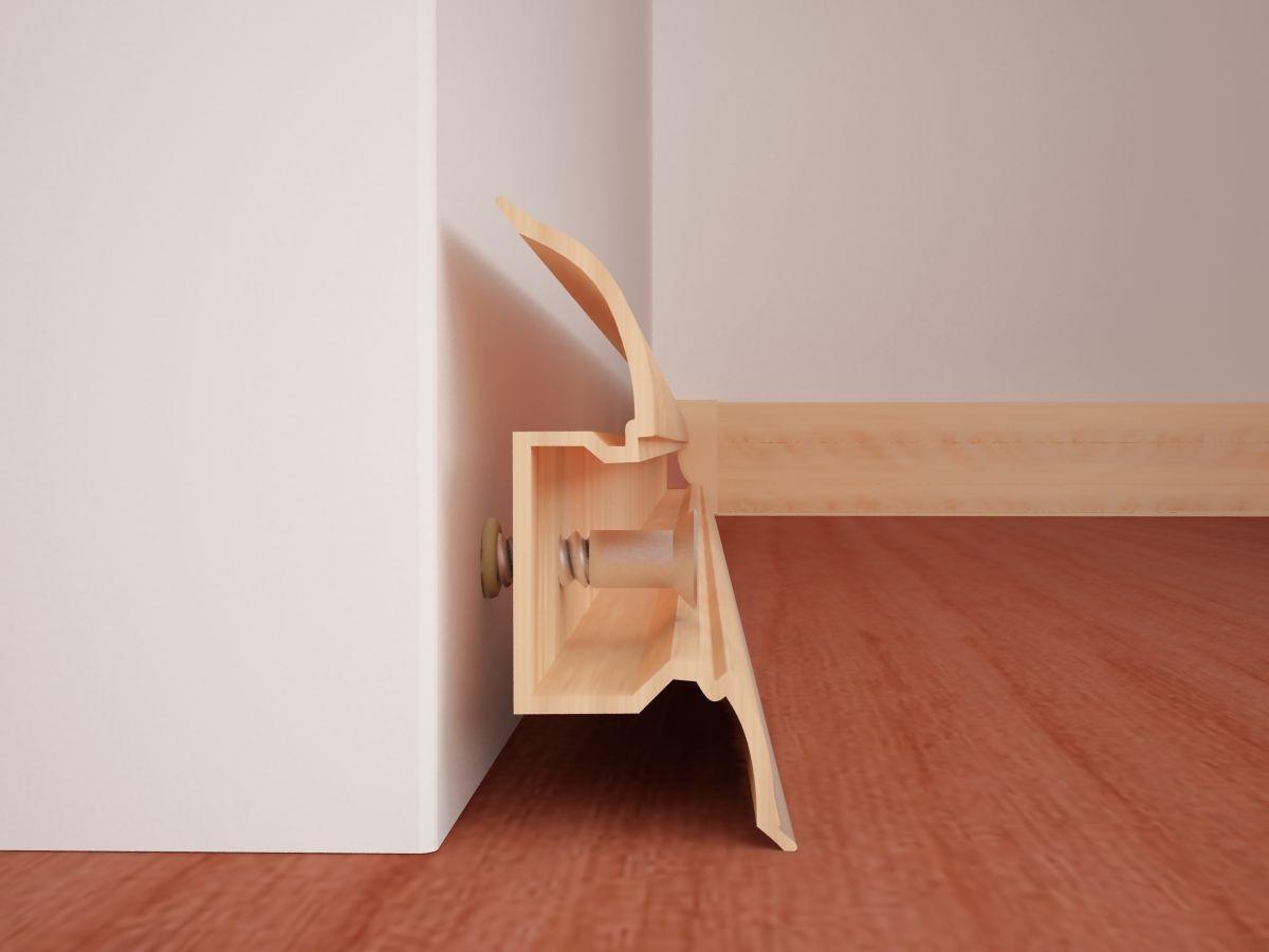 Как правильно прибить плинтус: нюансы работ с деревянным и пластиковым планками