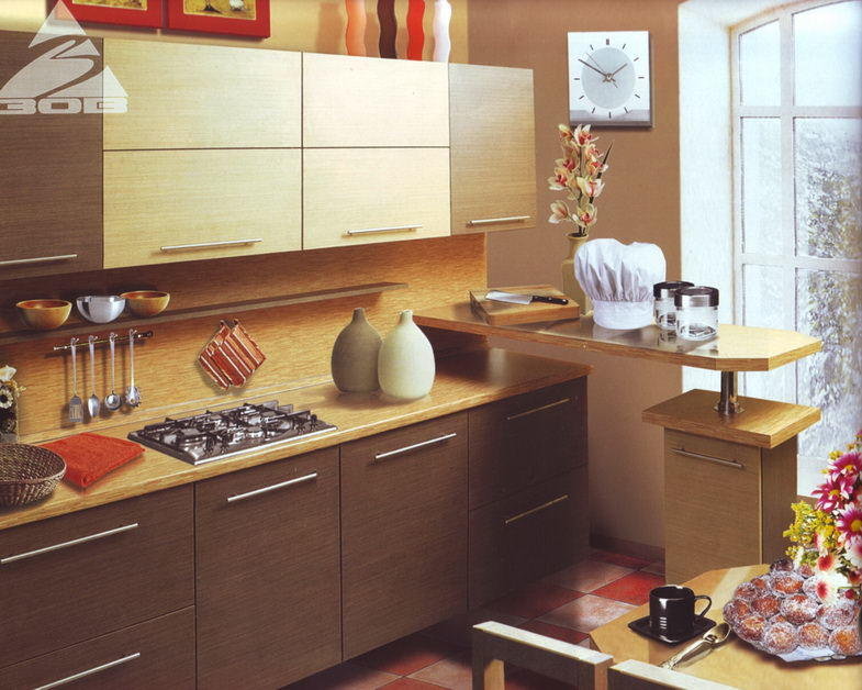 Ламинированная панель для кухни удобна для домохозяек и поможет содержать стены в чистоте