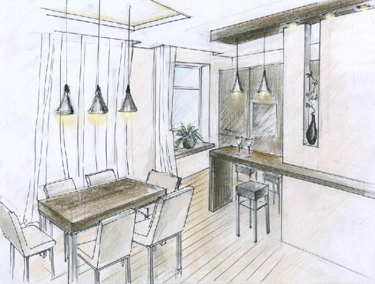 Создать эскиз будущей кухни можно не прибегая к помощи специалистов