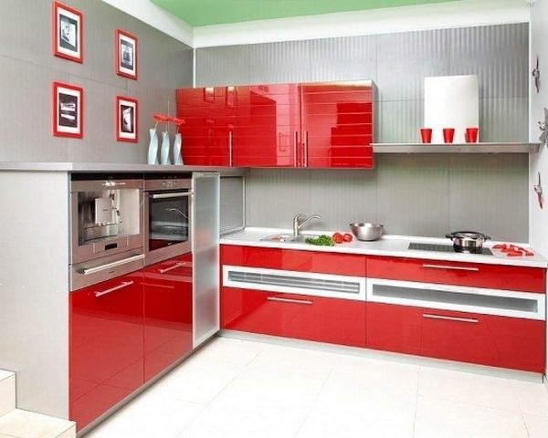 Красный цвет кухни - выбор жизнерадостных и активных хозяев