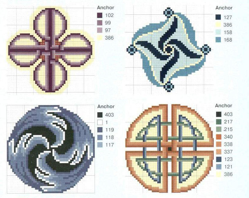Вышитый крестом орнамент кельтских народов может стать отличным оберегом