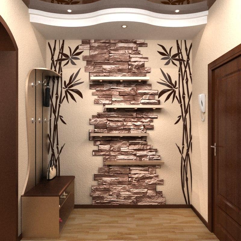 Сделать украшение для стен в прихожей можно своими руками, главное– сперва определиться с выбором рисунка и подготовить соответствующие материалы для работы
