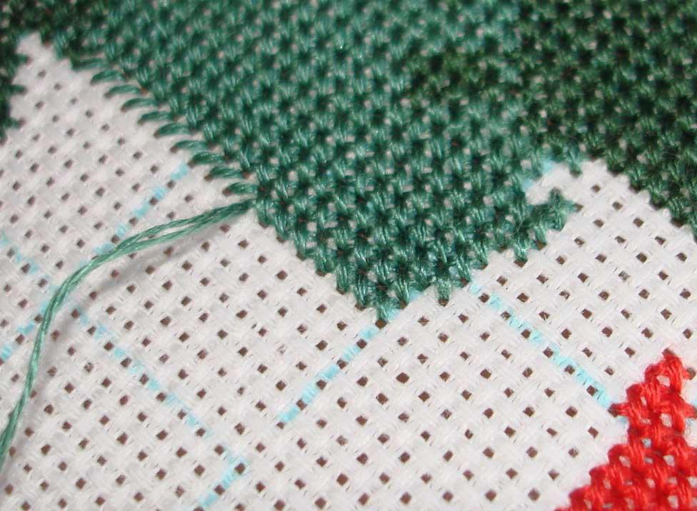 Ряды стежков при вышивке крестиком можно начинать как с вертикали, так и с горизонтали
