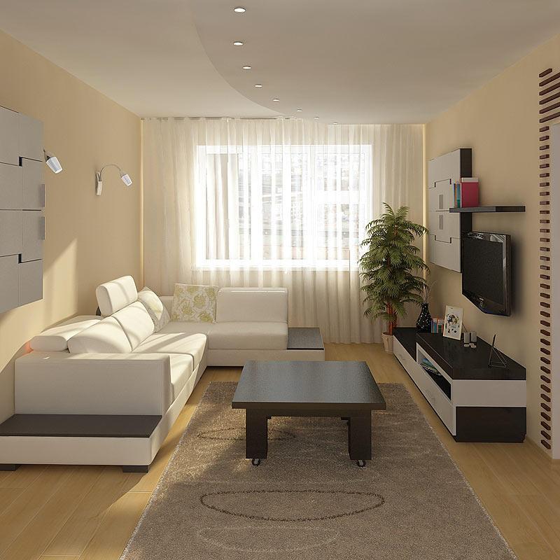 Стиль минимализм прекрасно подойдет для маленькой комнаты