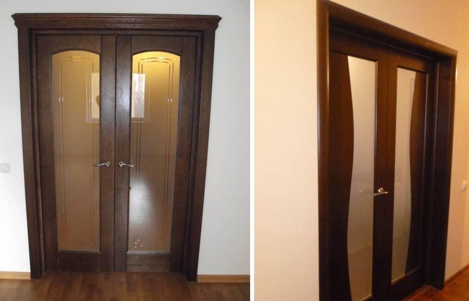 Распашные двери в зал — традиционный и очень удобный вариант, позволяющий значительно сэкономить место