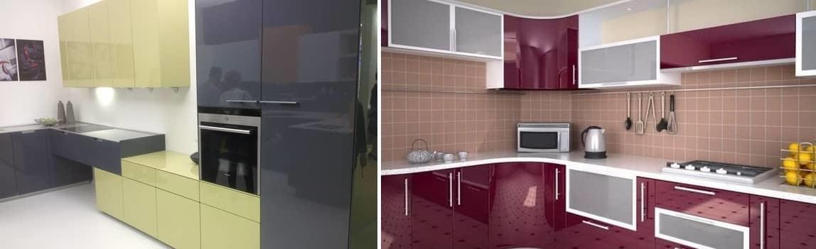 Единственный недостаток глянцевой кухни — они слишком быстро пачкаются, поэтому чистить и натирать их надо чаще, чем матовые фасады