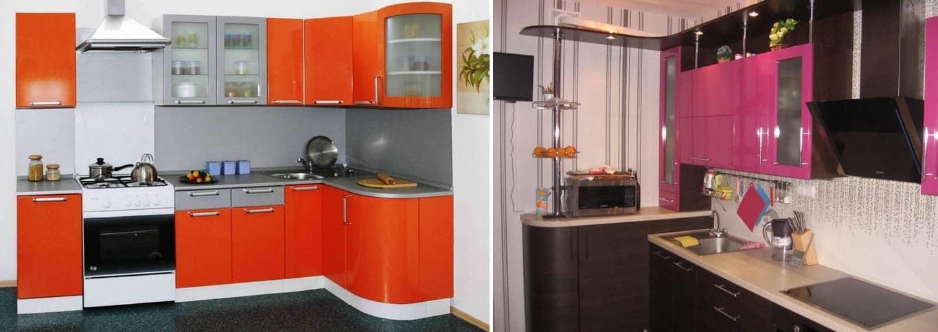 Угловая кухня является эргономичным вариантом расположения шкафов. Такое зонирование пространства будет довольно удобным для каждой хозяйки