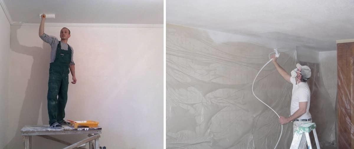 Как правильно побелить потолок побелкой