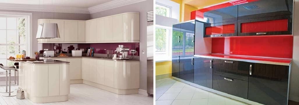 Для маленьких кухонь глянцевые фасады идеально подойдут, так как они визуально увеличивают пространство