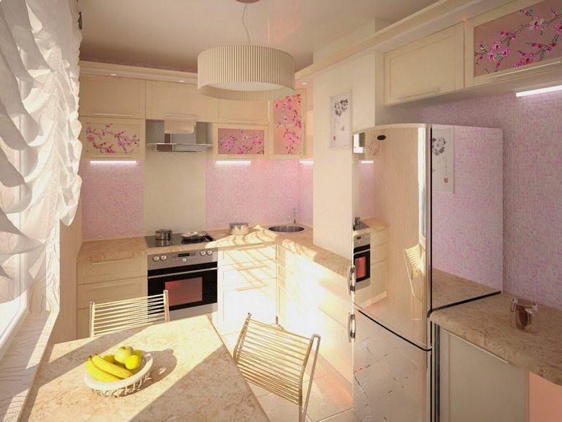 Для оформления стен лучше использовать сочетание моющих обоев и кафельной плитки