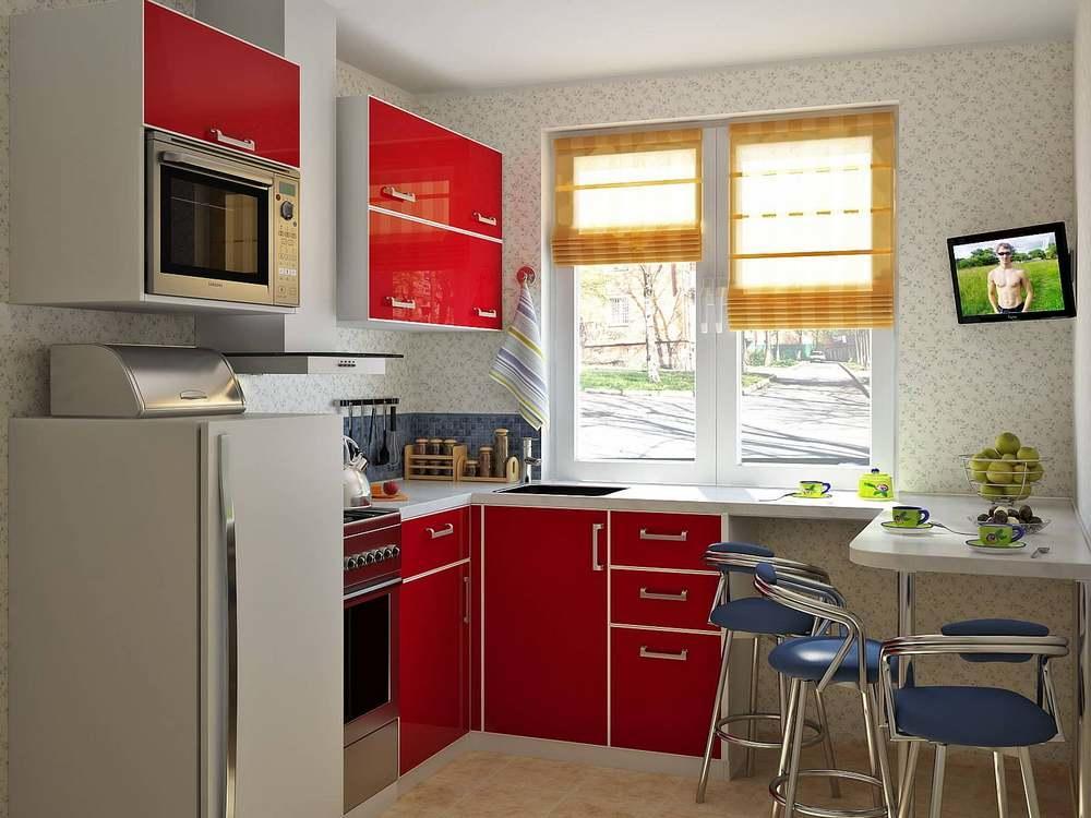 Даже в маленьком помещении хрущевки, можно обставить кухню комфортно и уютно