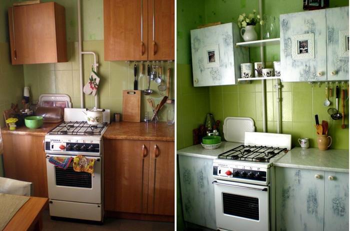 Обновив фасады кухни своими руками, можно кардинально изменить дизайн кухни