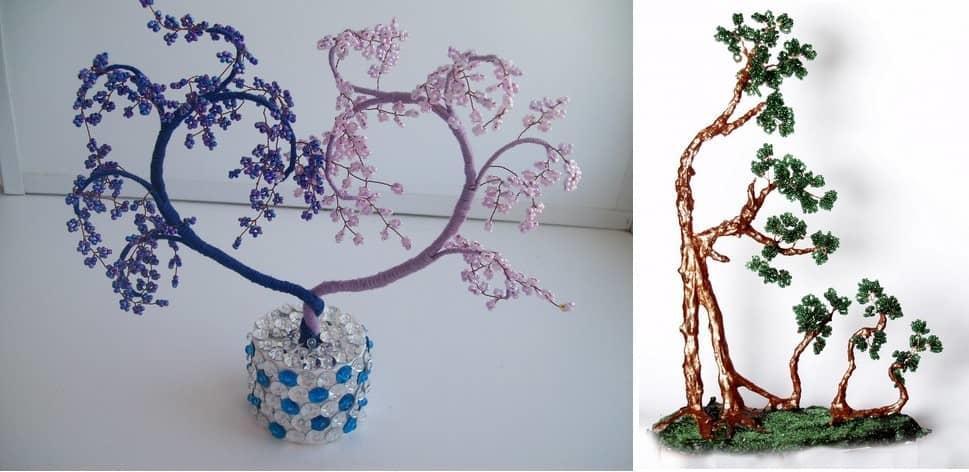 Что касается материалов для дерева счастья, то это может быть бисер, бумага, камни или искусственные цветы