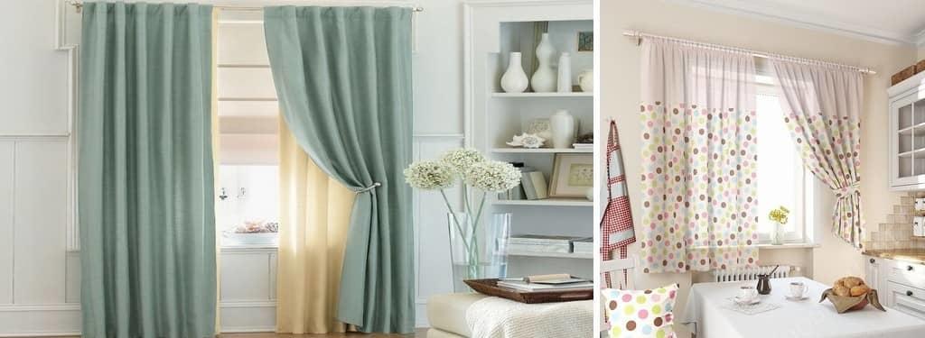 Комбинированные шторы помогут вам создать на кухне чувство спокойствия и умиротворения, к тому же это помещение одно из главных, где вы и ваша семья проводите время