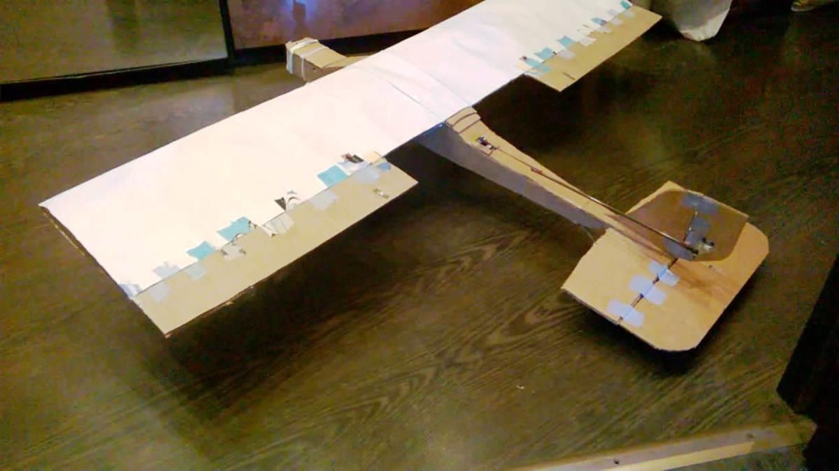 Из картона вполне можно смастерить даже большой самолет