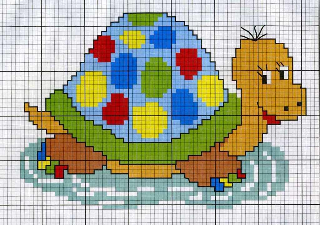 Для детской вышивки отлично подойдут рисунки с изображением животных и сказочных героев