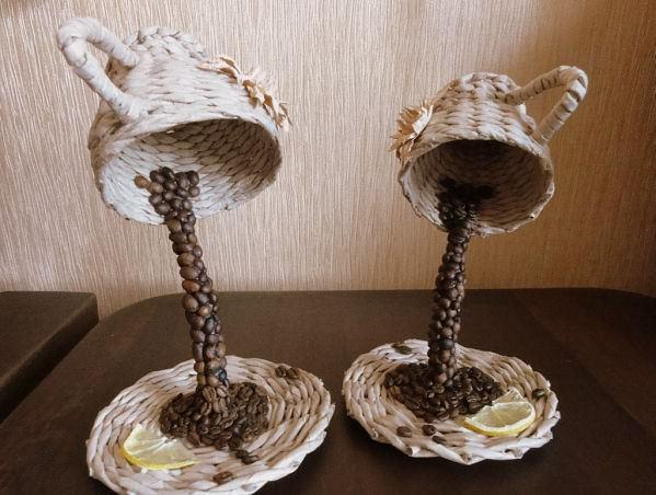 """Топиарий """"Летящая чашка"""" — оригинальное решение для оформления интерьера в любом стиле"""