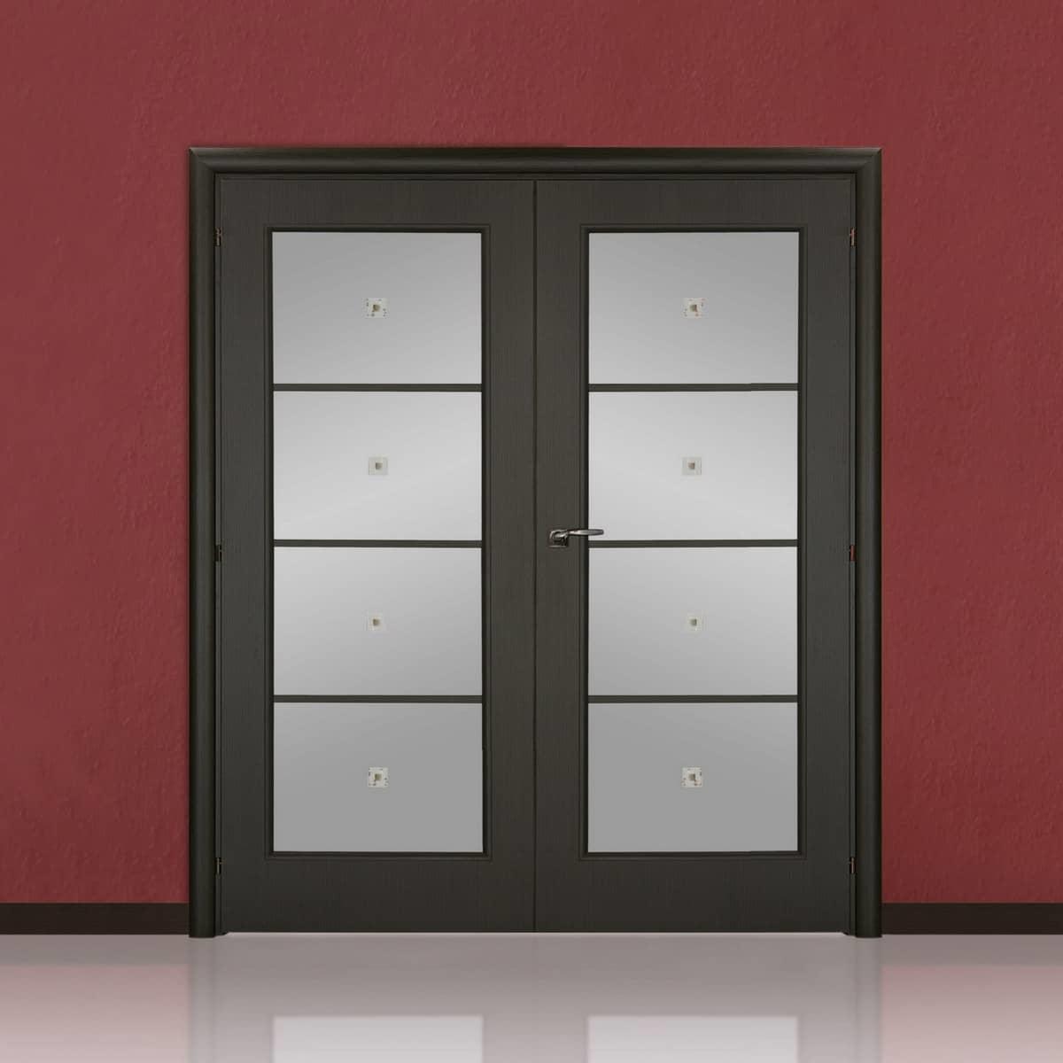 На сегодняшний день существует большой ассортимент двустворчатых дверей для зала - выбрать подходящие не составит особого труда