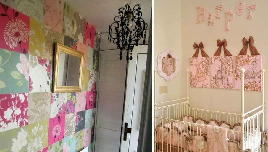 Для панно из обоев в детскую комнату можно выбрать яркие и красочные цвета