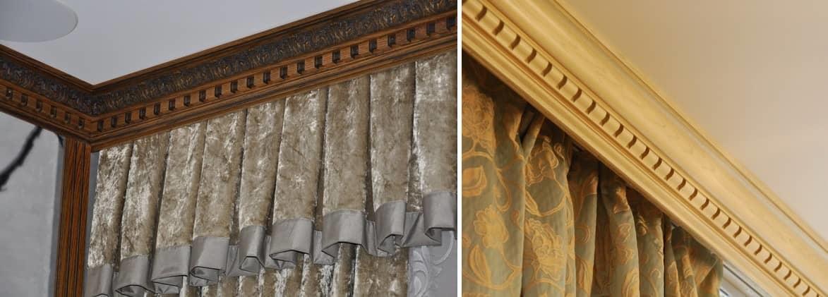 Потолочный карниз иногда используют, чтобы визуально увеличить вертикальный размер комнаты