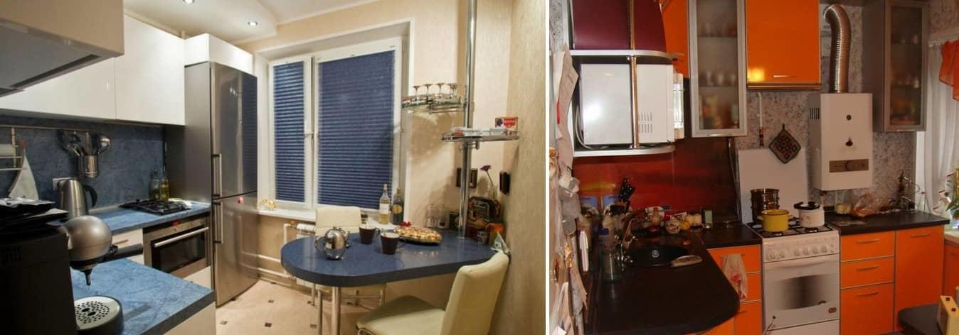 При правильном подходе, дизайн кухни 5,5 кв. м в хрущевке можно сделать максимально функциональным