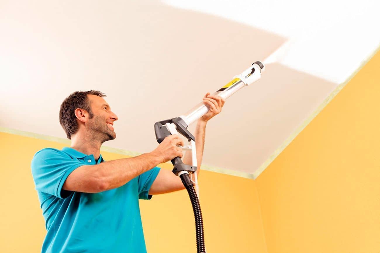 Для покраски 1 кв м потолка требуется: расход краски, водоэмульсионная для стен и потолков, сколько сохнет, рассчитать, сколько слоев, сколько раз красить
