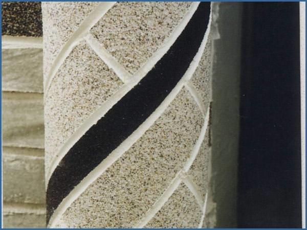 Гибкая плитка может быть использована не только на столешнице, но и на элементах декора