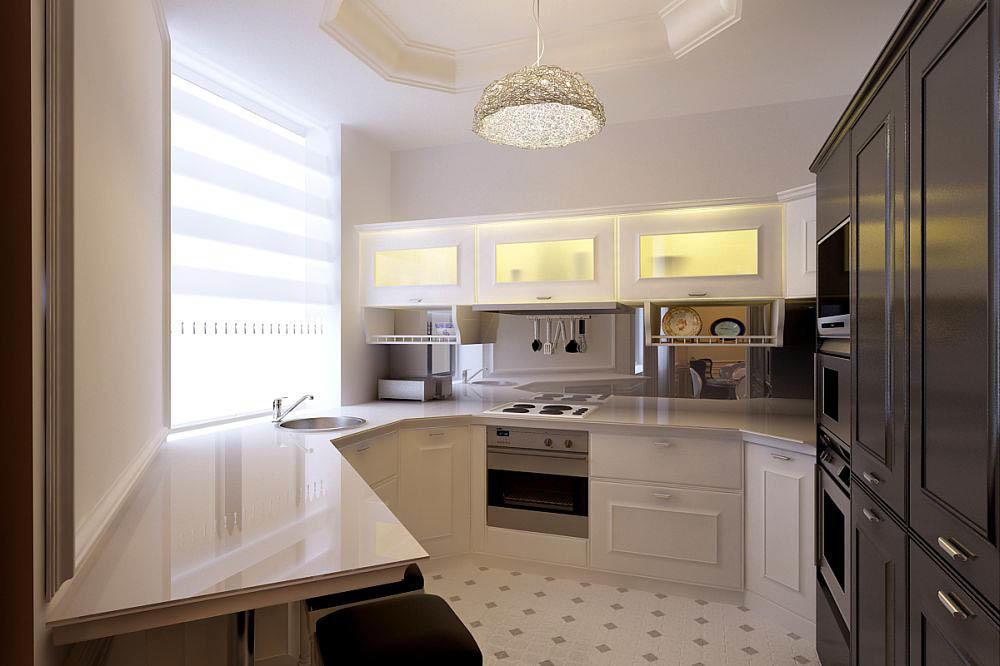 """Если ваша кухня 7 кв. м имеет нетиповую планировку - обратитесь к дизайнеру или нарисуйте дизайн-проект кухни сами. Не нужно идти в магазин и пытаться расположить типовой гарнитур в вашей """"уникально"""" кухне - в большинстве случаев они не только не подойдут, а испортят стиль и ухудшат удобство пользования"""