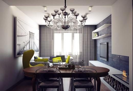 Перенос кухни в зал имеет как минусы, так и плюсы, но вторых очевидно больше - простор и удобство