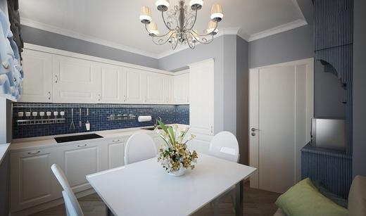 Площадь кухни п44 позволяет расставить мебель на свой вкус, так как удобство при такой площади не пострадает