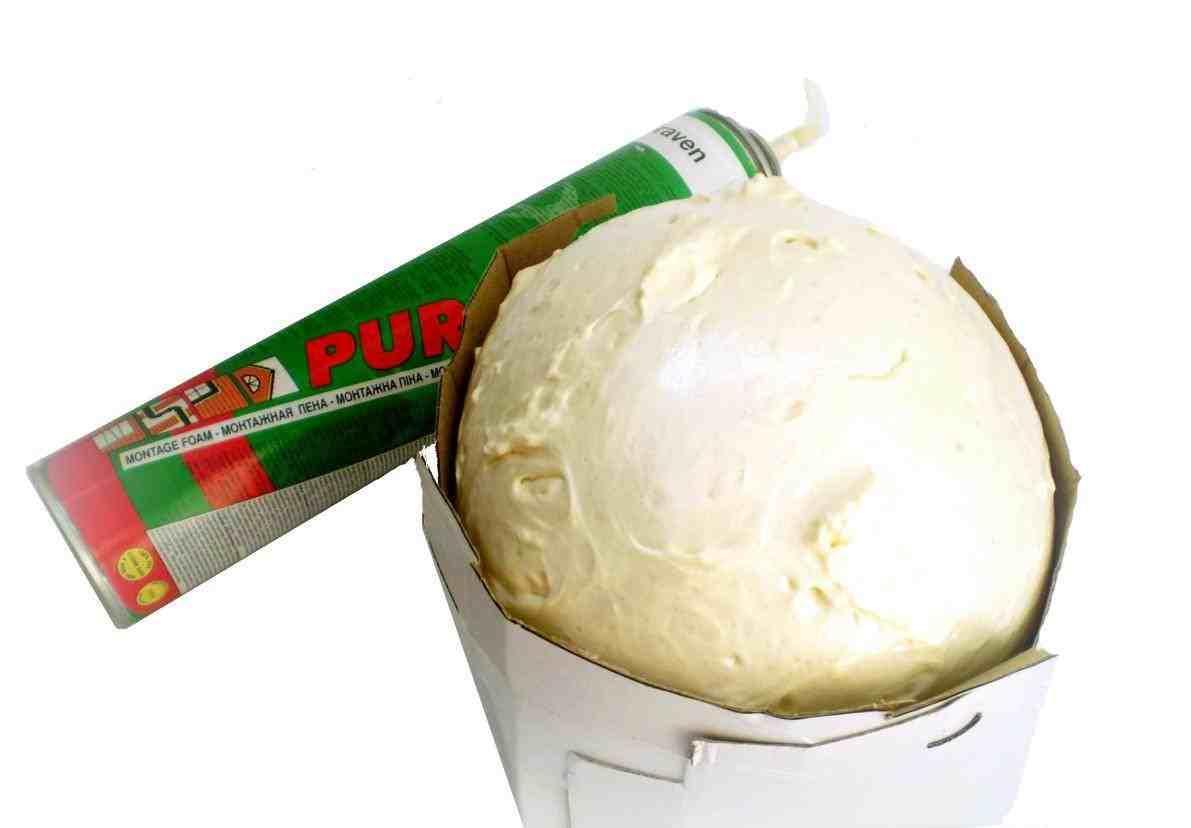 Наиболее прочный шар для топиария — из монтажной пены