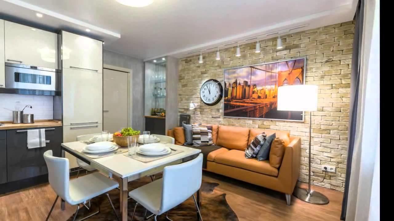 Кухня гостиная 30 кв