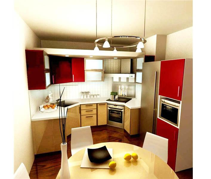 Если планировка вашей кухни 9 кв. м нестандартная, то лучше приобрести мебель и гарнитур, выполненные по индивидуальному проекту и размерам