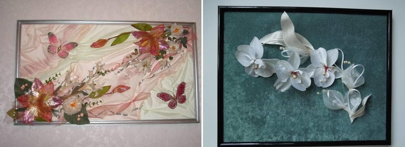 На изготовление панно с цветами из ткани у вас уйдет 1,5-2 часа вашего времени, зато результат превзойдет все ваши ожидания