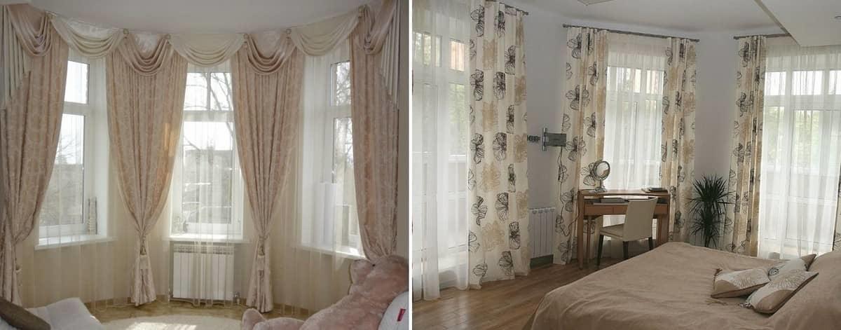 Если в вашей спальне три окна, то следует их оформлять в едином стиле
