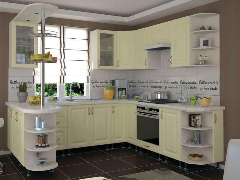Установка углового кухонного модуля предусматривает устройство достаточного освещения