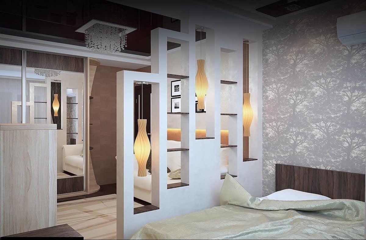 При правильном зонировании пространства помещения, у вас должны получиться две функциональные и удобные комнаты