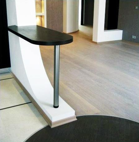 Барная стойка станет не только украшением интерьера кухни, но и функциональным элементом