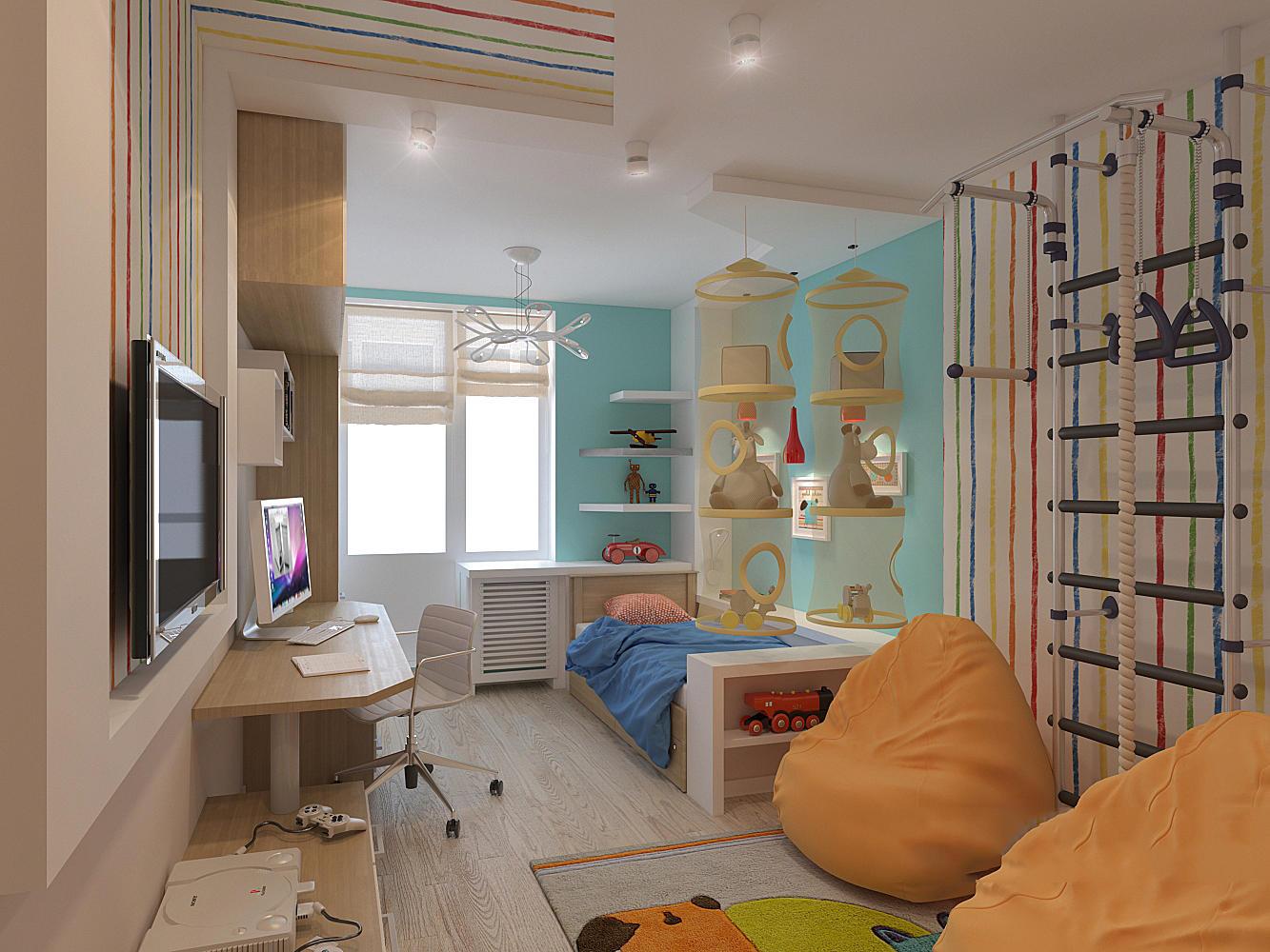 Продумывая интерьер детской комнаты на 12 кв. метров, нужно брать в расчет все нюансы, чтобы дети чувствовали себя там наилучшим образом