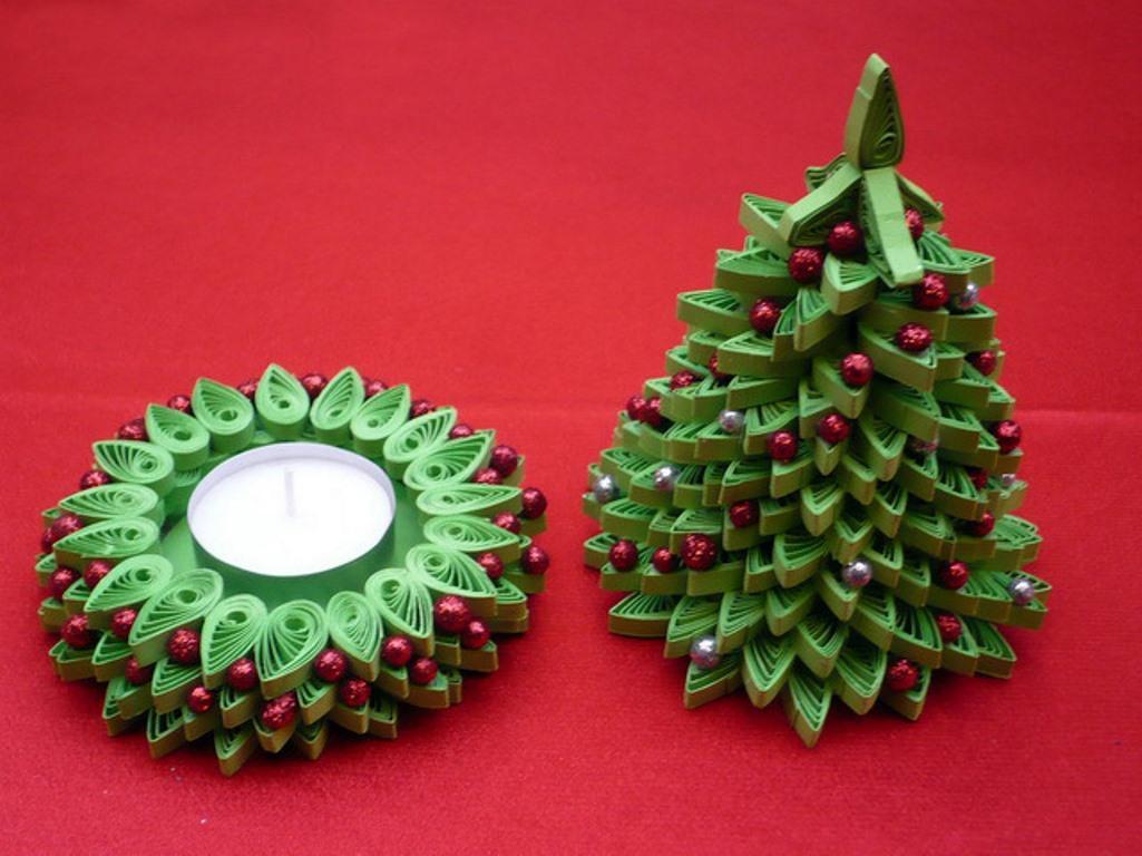 Сделать ёлочку-квиллинг интересной и необычной можно при помощи красивых бусин