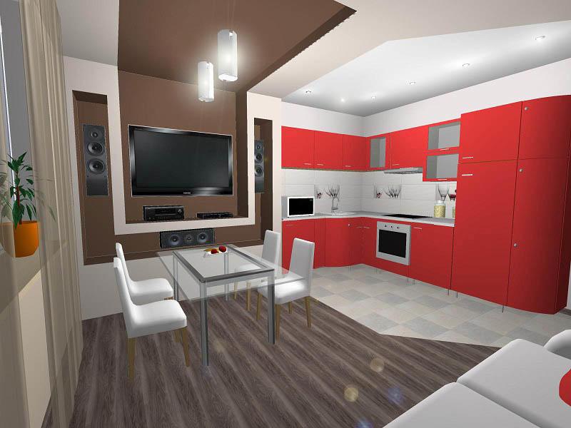 Кухня 15 кв. м дает возможность удачного объединения ее с гостиной. Такой вариант, как правило, не только делает оба помещения красивее, но и позволяет сделать процесс готовки более увлекательным, ведь всегда можно пообщаться с домочадцами, расположившимися в зале или просто готовить и смотреть телевизор