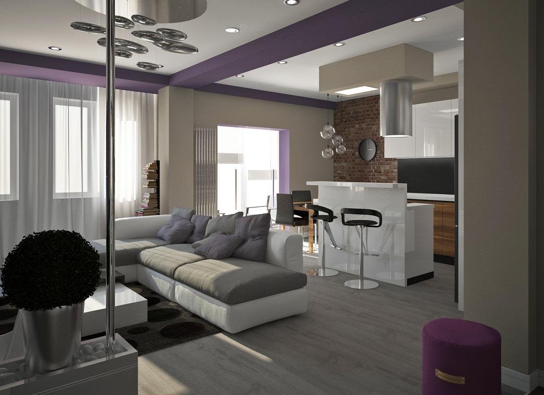 Для предотвращения монотонности рекомендуется для каждой зоны кухни-гостиной выбирать предметы мебели, которые будут отличаться по цвету, но их стиль должен быть одинаковым