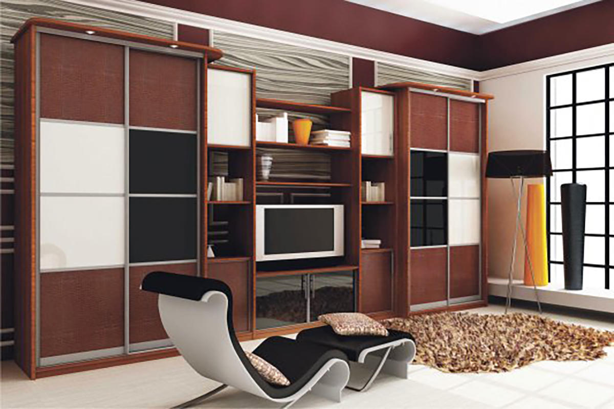 Модульный шкаф-купе собирается из отдельных частей с различным наполнением, которые можно легко комбинировать между собой в зависимости от ваших желаний и потребностей