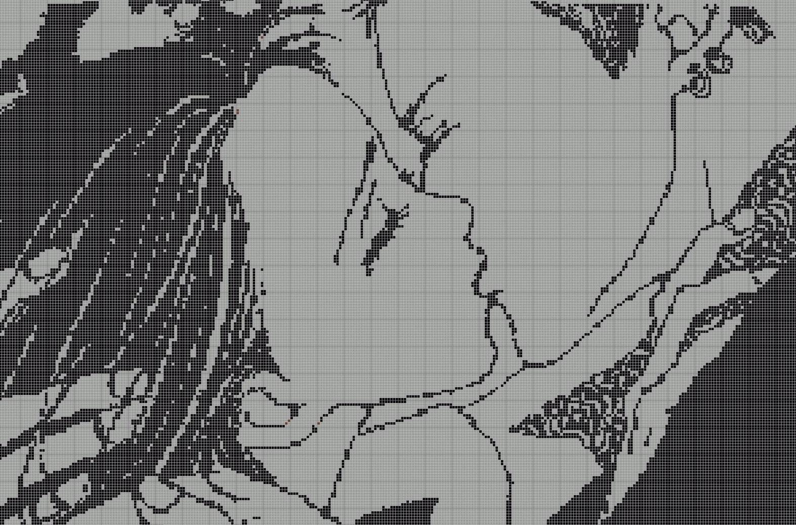 Вампир-аниме крестиком: вышивка по схемам, смотреть мультик и картинки, как вышить простые по клеткам персонажи