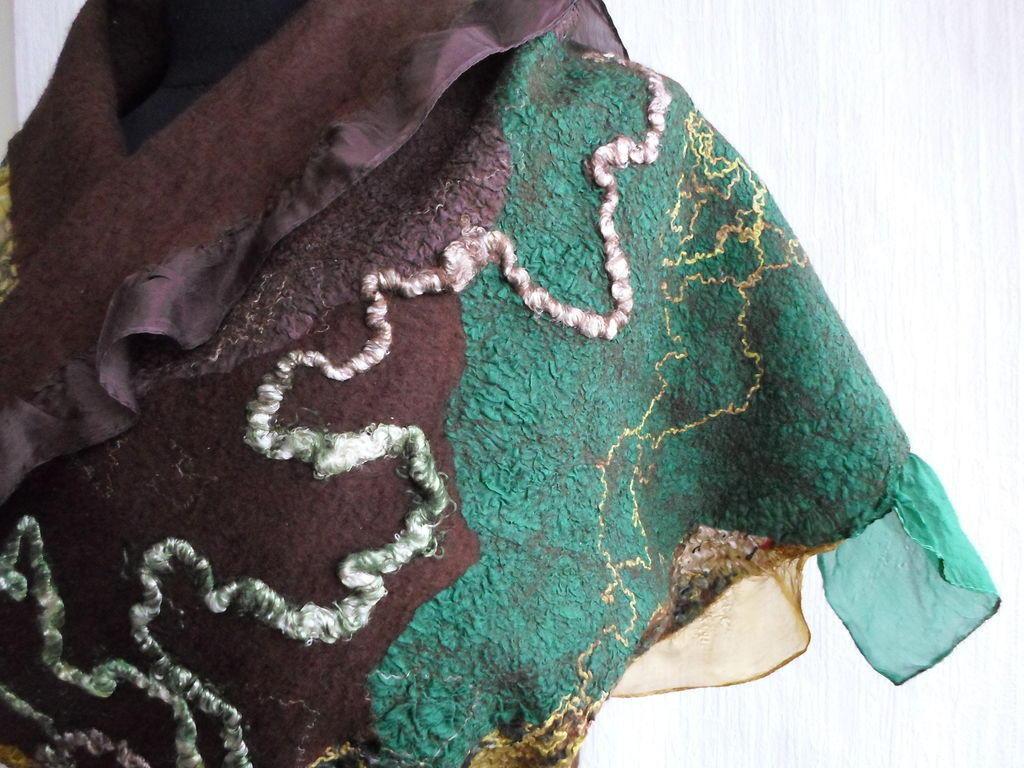 Прежде чем валять шарф при помощи нуновойлока, необходимо подготовить материалы