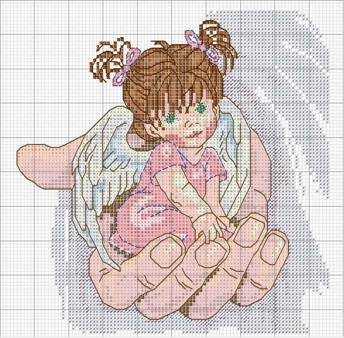 Начиная вышивать ангелов, запаситесь терпением, ведь это процесс, в котором спешка ни к чему